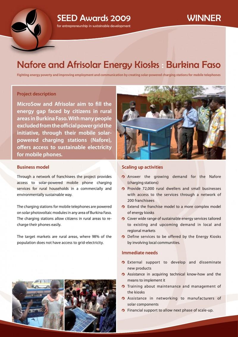 Case Study: Nafore and Afrisolar Energy Kiosks - SEED