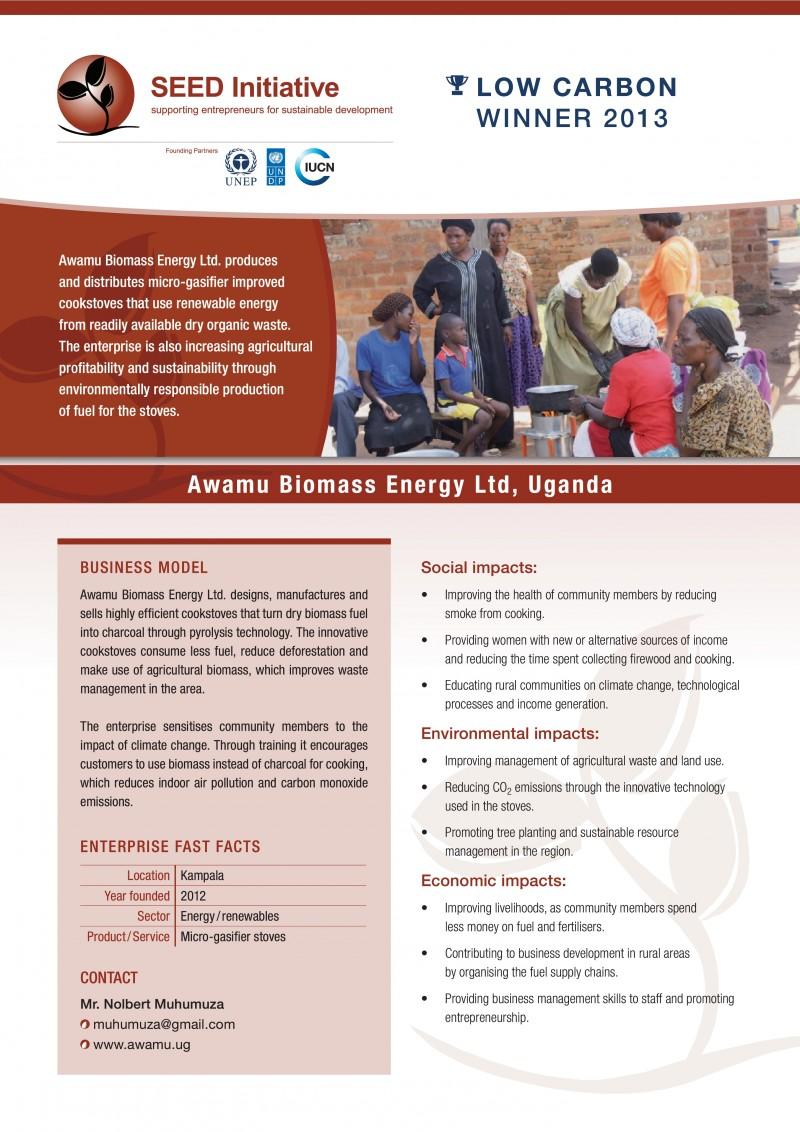 Enterprise Brief: Awamu Biomass Energy Ltd  - SEED